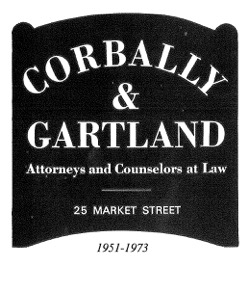 History 1951 - 1973 Sign for Corbally & Gartland
