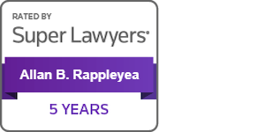 Attorney Allan B. Rappleyea Super Lawyer 5 Years 2019